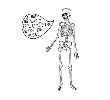 Joyce Manor Skeleton Design by Tara Margolis