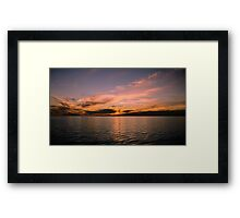Sunset By The Pier 2 Framed Print