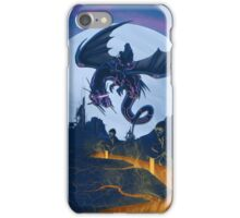 electric dragon rider iPhone Case/Skin