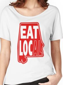 eat local red print Women's Relaxed Fit T-Shirt