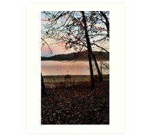 Sunset, in Peach colors Art Print