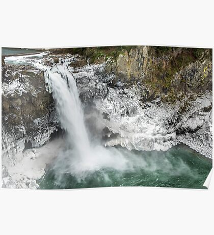 Icy Snoqualmie Falls Poster