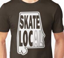 skate local white print Unisex T-Shirt