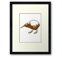Cute Little Kiwi Bird Framed Print