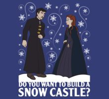 Do You Want to Build a Snow Castle? (white) by JenSnow