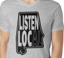 Listen Local Mens V-Neck T-Shirt