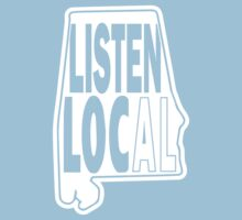 Listen local white print by BuyLocal