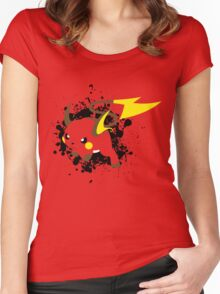 Raichu Splatter Women's Fitted Scoop T-Shirt