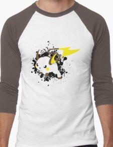 Raichu Splatter Men's Baseball ¾ T-Shirt