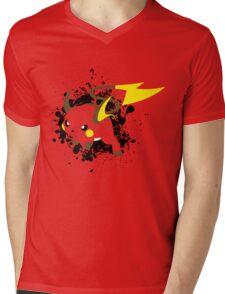 Raichu Splatter Mens V-Neck T-Shirt