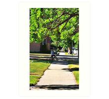 In Small Town Art Print