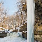 Frozen Waterfall and Icicles by Kenneth Keifer