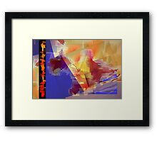 Abstract symbolism one Framed Print