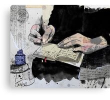 the writer, the poet, the thinker.... Canvas Print