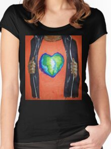 Heart for the world Women's Fitted Scoop T-Shirt