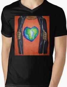 Heart for the world Mens V-Neck T-Shirt