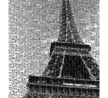 Eiffel Tower Mosaic Phone case by Brydie Parton