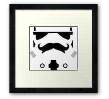 Mustached Trooper Framed Print