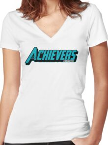 Over Achievers Women's Fitted V-Neck T-Shirt