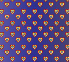 Colored hearts in dark blue  by shoppy76