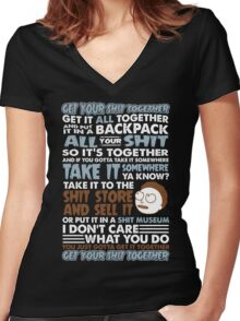 RICK AND MORTY SHIRT - GET YOUR SHIT TOGETHER! Women's Fitted V-Neck T-Shirt