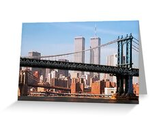 TWIN TOWERS and BRIDGES of NEW YORK Greeting Card