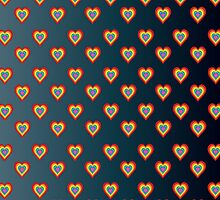 Colorful hearts on dark gray background  by shoppy76