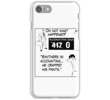 Zero Accident Free Days iPhone Case/Skin