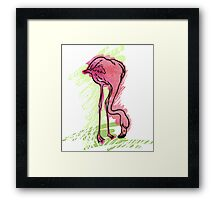 Painted flamingo bird Framed Print