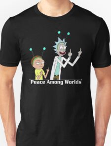 RICK AND MORTY SHIRT - PEACE AMONG WORLDS T-Shirt
