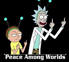 RICK AND MORTY SHIRT - PEACE AMONG WORLDS by Jimmy Fallon