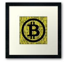 BITCOIN is HERE! Framed Print