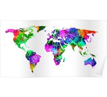 VIBRANT MAP of the WORLD Poster