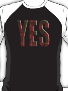 Tartan Yes - Scottish independence referendum T-Shirt