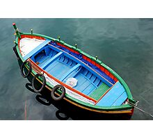 Boat in the harbour of Siracusa - Sicily - Italy Photographic Print