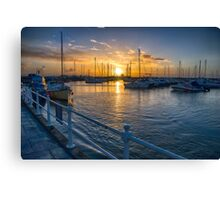 St Aubin's Harbour Canvas Print