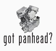 "1948 Harley-Davidson Panhead ""got panhead?"" T-Shirt by equilibria"