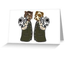 Lock, Stock and Two Smoking Barrels Greeting Card