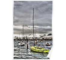 St. Kilda Marina and City Skyline Poster