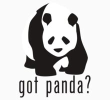 "Panda Bear ""got panda?"" T-Shirt or Hoodie by equilibria"