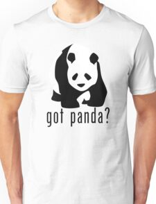 "Panda Bear ""got panda?"" T-Shirt or Hoodie Unisex T-Shirt"