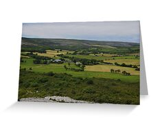 The Burren and it's Farmlands County Clare Ireland- Greeting Card