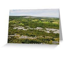 Farmlands of the Burren County Clare Ireland Greeting Card