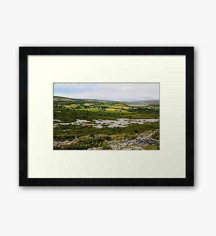 Farmlands of the Burren County Clare Ireland Framed Print