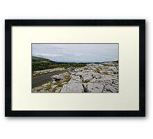 The Burren County Clare Ireland - Overlooking Galway Bay Framed Print