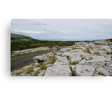 The Burren County Clare Ireland - Overlooking Galway Bay Canvas Print