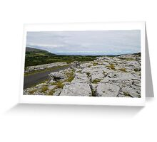 The Burren County Clare Ireland - Overlooking Galway Bay Greeting Card