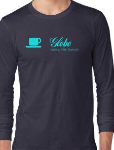 Coffee Glebe (blue print) Long Sleeve T-Shirt