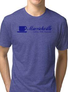Coffee Marrickville (blue print) Tri-blend T-Shirt