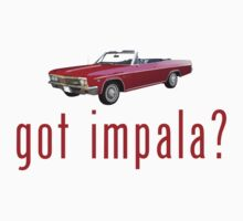 "Chevy Impala Convertible ""got impala?"" T-Shirt or Hoodie by equilibria"